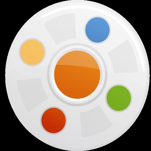 paint palette video icon