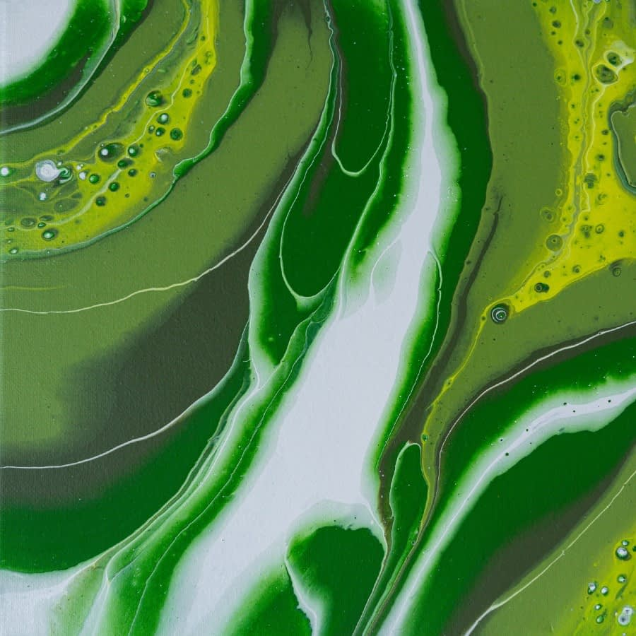 Abstract art. Shades of green with hint of yellow.